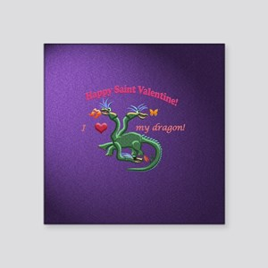Saint Valentine dragon Sticker