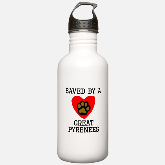 Saved By A Great Pyrenees Water Bottle