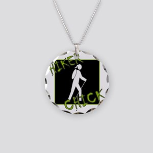 Hiker Chick - Hiker Necklace Circle Charm