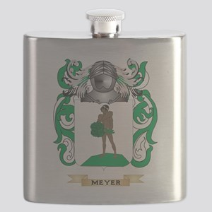 Meyer-2 Coat of Arms - Family Crest Flask