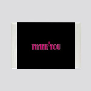 Thank You -Pink Rectangle Magnet