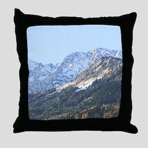 austrian landscape digital Throw Pillow
