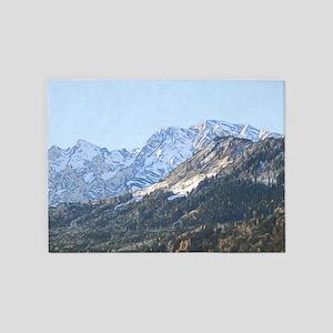austrian landscape digital 5'x7'Area Rug
