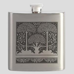 Art Nouveau Vintage Tree Pattern Flask