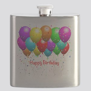 Happy Birthday Balloons Flask