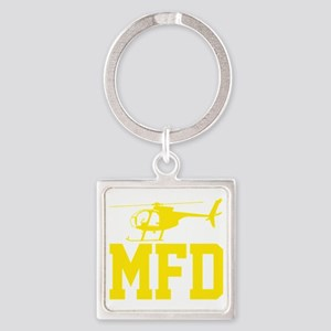 MFD Hughes 500D Helicopter Square Keychain