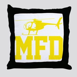 MFD Hughes 500D Helicopter Throw Pillow