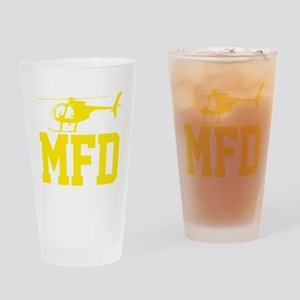 MFD Hughes 500D Helicopter Drinking Glass