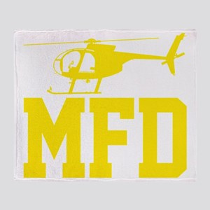 MFD Hughes 500D Helicopter Throw Blanket