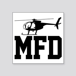 "MFD Hughes 500D Helicopter Square Sticker 3"" x 3"""
