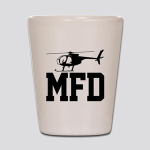MFD Hughes 500D Helicopter Shot Glass