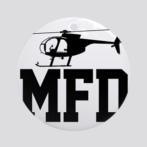 MFD Hughes 500D Helicopter Round Ornament