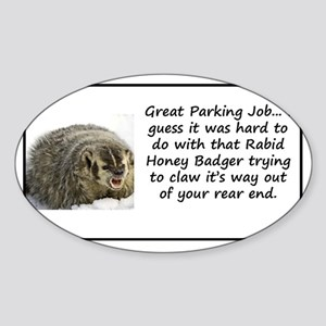 Tell bad drivers how you feel Sticker (Oval)