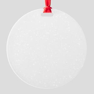 Hiking (White) Round Ornament