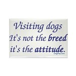 Visiting Dogs Rectangle Magnet (100 pack)