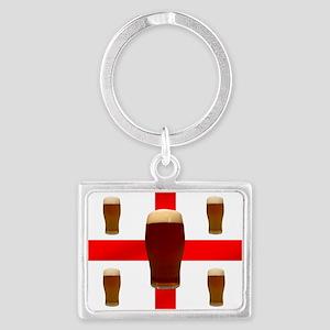 English Beer Landscape Keychain