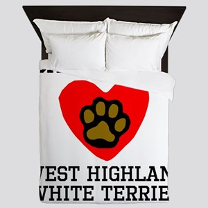 Saved By A West Highland White Terrier Queen Duvet