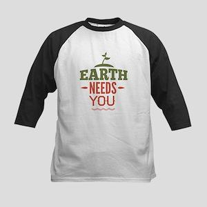 Earth Needs You Kids Baseball Jersey