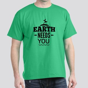 Earth Needs You Dark T-Shirt