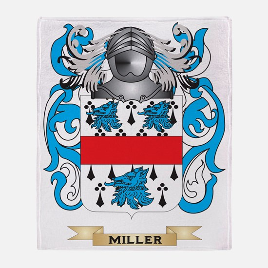 Miller Coat of Arms - Family Crest Throw Blanket