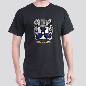 Mills Coat of Arms - Family Crest Dark T-Shirt