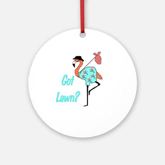 Got Lawn Flamingo Ornament (Round)