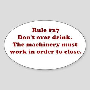 Rule #27 Oval Sticker