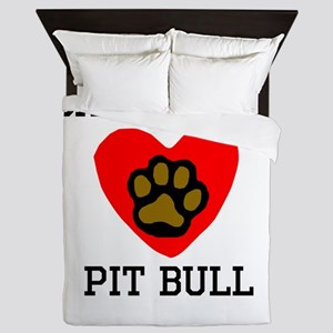 Saved By A Pit Bull Queen Duvet