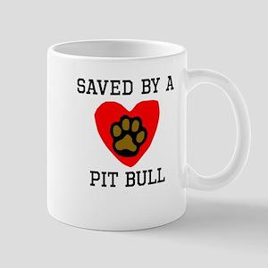 Saved By A Pit Bull Mugs