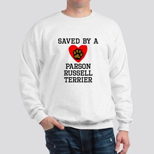 Saved By A Parson Russell Terrier Sweatshirt