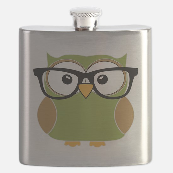 Funky Hipster Owl Flask