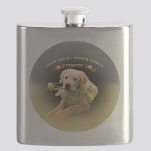 Lab Who Said I Need Training ornament Flask