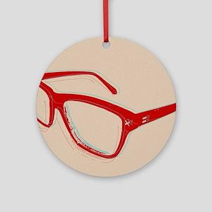 Glasses Round Ornament