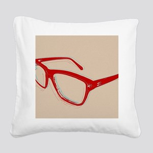 Glasses Square Canvas Pillow