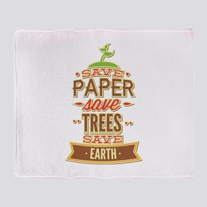 Save Paper Save Trees Save Earth Stadium Blanket