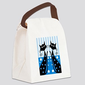 Whimsical Cats Canvas Lunch Bag