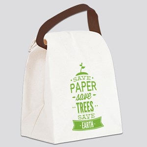 Save Paper Save Trees Save Earth Canvas Lunch Bag