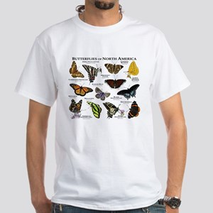 Butterflies of North America White T-Shirt