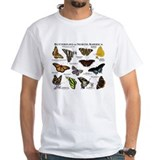 Butterflies Mens Classic White T-Shirts