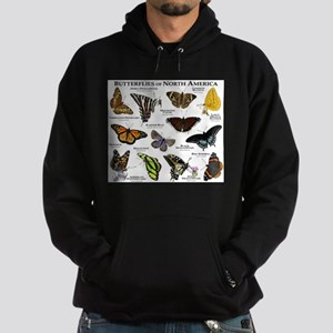 Butterflies of North America Hoodie (dark)
