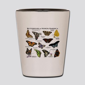 Butterflies of North America Shot Glass