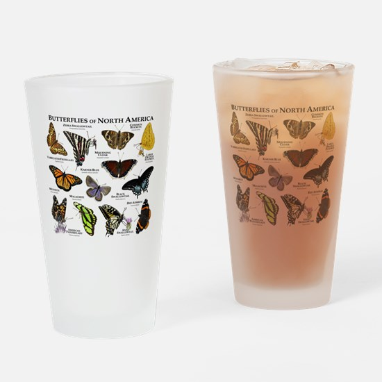 Butterflies of North America Drinking Glass