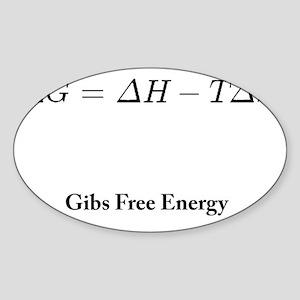 Gibs Free Energy Sticker (Oval)