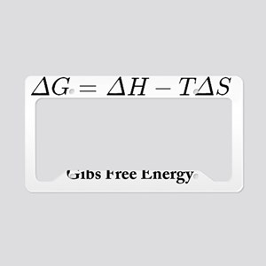 Gibs Free Energy License Plate Holder