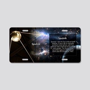 Sputnik Historical Aluminum License Plate
