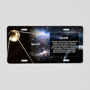 Sputnik Historical Aluminum License Plate