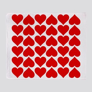 Red Heart of Love Throw Blanket