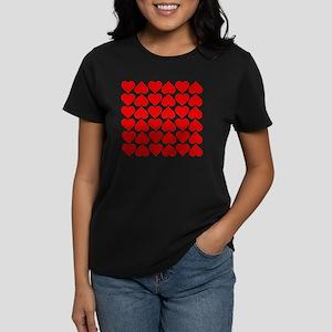 Red Heart of Love Women's Dark T-Shirt