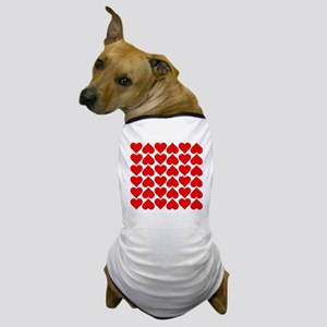 Red Heart of Love Dog T-Shirt