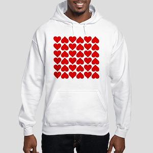 Red Heart of Love Hooded Sweatshirt